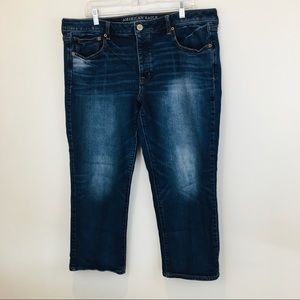 American Eagle Boy Crop denim jeans size 18